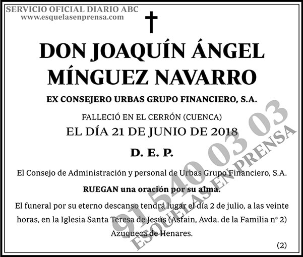 Joaquín Ángel Mínguez Navarro